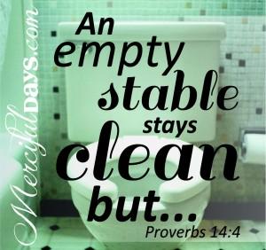 Proverbs 14v4